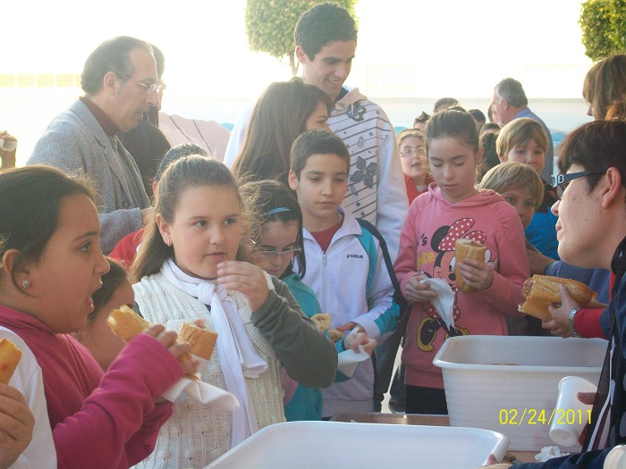 Desayuno mediterráneo.Día de Andalucía.